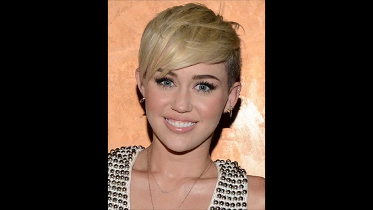 Miley Cyrus Hair Styles New Blonde Haircut Youtube