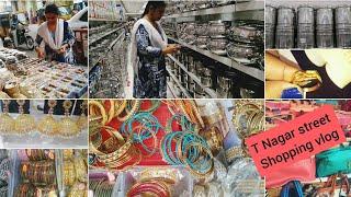 எங்க வீட்டு கல்யாண  Shopping vlog 2 பார்க்கலாம் வாங்க   Chennai t nagar shopping haul tamil