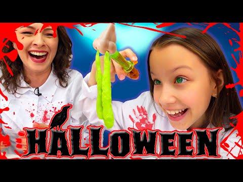HALLOWEEN 🎃 Зомби Вкусняшки на Хэллоуин 2019 Trick or Treat Challenge / Вики Шоу