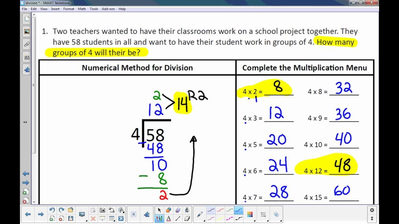 Solving Division Problems Using an Algorithm - YouTube