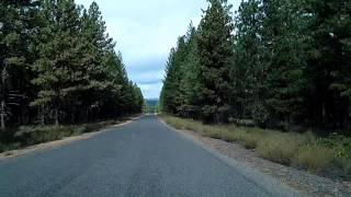 Drive to the top of Lava Butte, Newberry National Volcanic Monument, US 97 Time Lapse