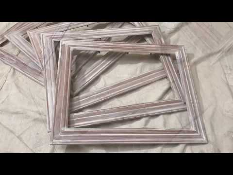 DIY Project White Washing Picture Frames Easy Project Farmhouse Style