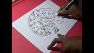 How to Peacock DRAWING for KIDS