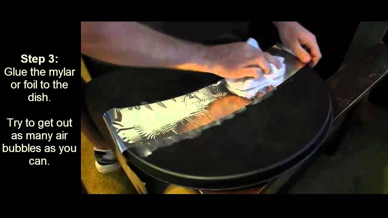 Making A Parabolic Mirror The Cheap Way Youtube
