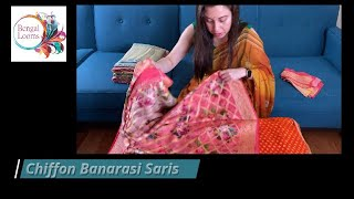 Pure Chiffon Banarasi Saree | Latest Banarasi Sari | Bengal Looms USA