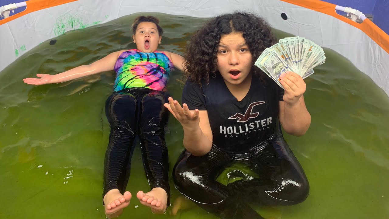 Slime Master Mary And Izzy: Last To Leave The Slime Pool Wins $3,000