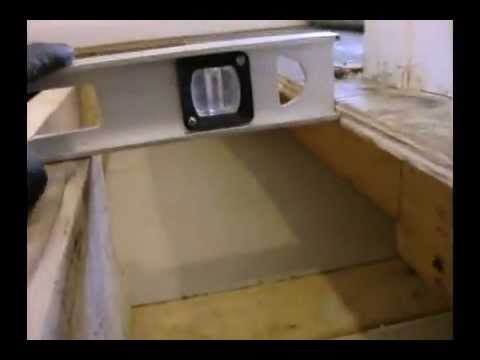 10 20 12 Leveling Floor Hump I Youtube