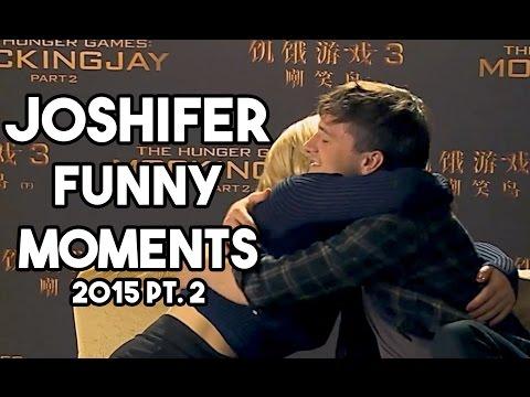 Jennifer Lawrence Josh Hutcherson Funny Moments 2015 Part 2