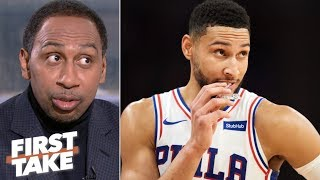 76ers say there's no truth to the Ben Simmons trade rumors – Stephen A. | First Take thumbnail