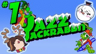 Jazz Jackrabbit Holiday Hare: Hop Around - PART 1 - Steam Train