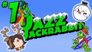 Jazz Jackrabbit Holiday Hare: Hop Around - PART 1 - Steam Train