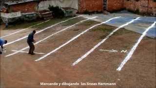 Marcado de líneas Hartmann en un terreno para construir 1 de 3