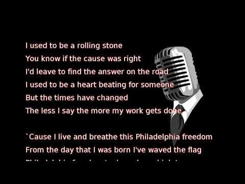Elton John - Philadelphia Freedom (lyrics)
