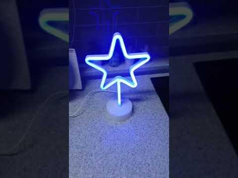 [헬로마켓] - LED네온사인 스탠드조명(블루스타)(4000원)