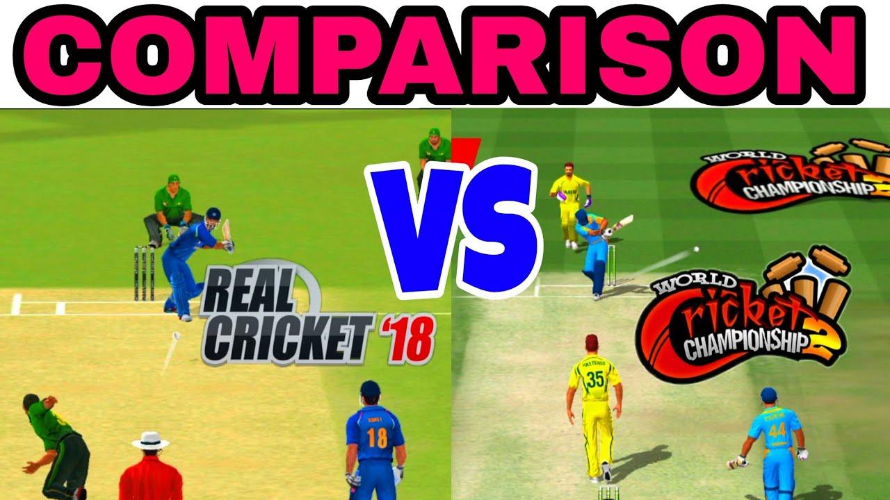 World Cricket Championship 2 vs Real Cricket 18 Comparison