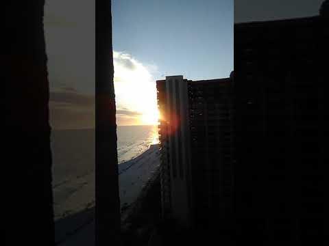 Panama City hotel sunset