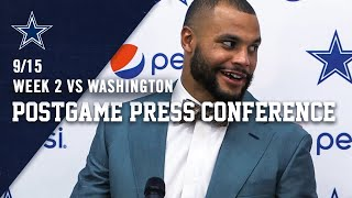 Dak Prescott Postgame | Week 2 at WAS | Dallas Cowboys 2019