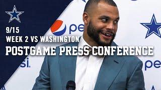 Dak Prescott Postgame Week 2 vs Washington Redskins | Dallas Cowboys 2019