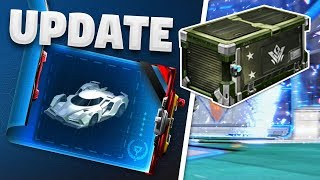 NEW 'VINDICATOR CRATE' And BLUEPRINTS Coming To Rocket League! HUGE Update Information