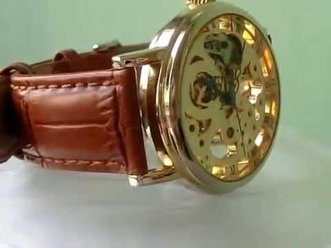 bc484145288 Relógio Automático Esqueleto - YouTube