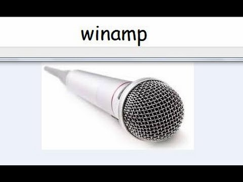 how to remove voice in winamp(karaoke)