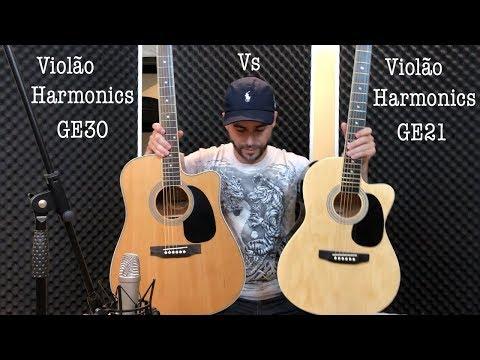 Comparação dos Violões Harmonics GE 21 e GE30