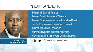 Nene returns as Finance Minister
