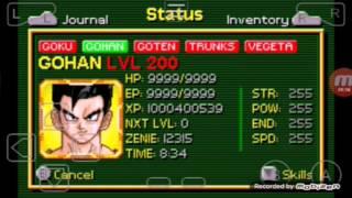Dragon Ball Buu's Fury cheat for Saiyaman transforming