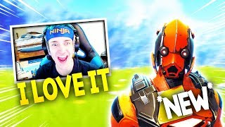 NINJA & MYTH REACTS TO THE NEW VERTEX SKIN - Fortnite Battle Royale WTF & Funny Moments