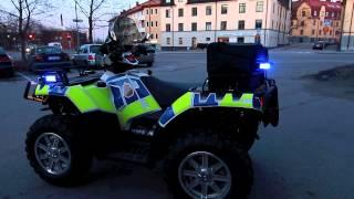 Polaris Fyrhjuling i Polisutförande