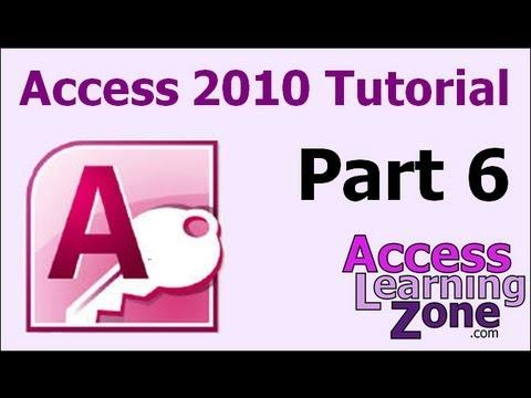 Microsoft Access 2010 Tutorial Part 06 Of 12 - Entering Data, Part 1