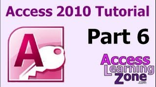Microsoft Access 2010 Tutorial Part 06 of 12 - Entering Data, Part 1
