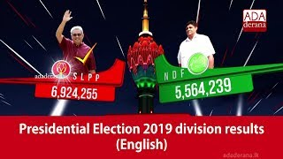 Presidential Election 2019 division results (English)
