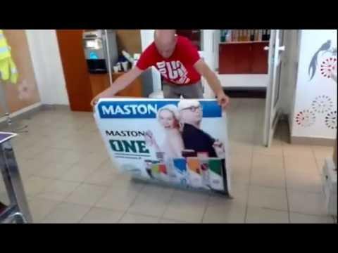 padlómatrica leragasztása - YouTube
