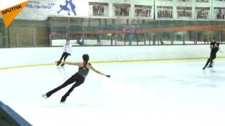 2016 World Figure Skating Champion Evgenia Medvedeva Training