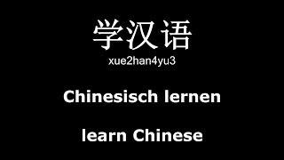 Learn Chinese Lesson #01 - [汉字 + Pinyin + Englisch Translation + Deutsche Übersetzung](Kostenlos Abonnieren: http://www.youtube.com/subscription_center?add_user=LearnLanguagesHD ▻ Facebook: ..., 2013-12-03T01:30:41.000Z)