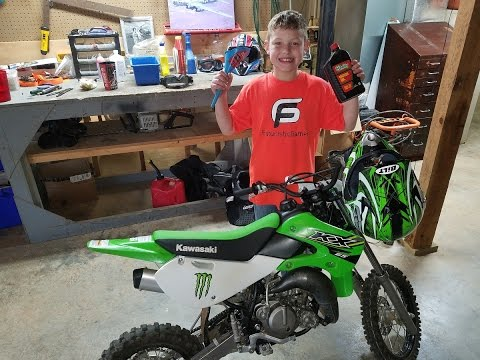 The Kawasaki kx 65, break in oil change and tune up. ready to race!!