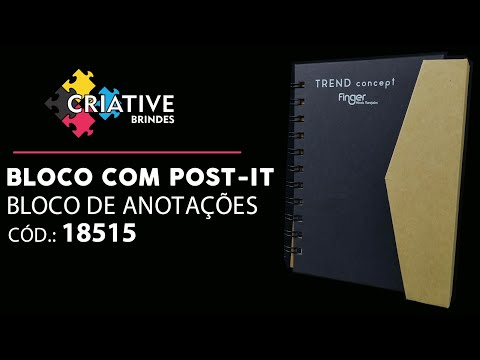 Bloco de Anotações + Post-it 18515 Personalizado