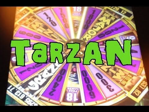 BIG WIN On Tarzan -- A Slot Machine Bonus At Max Bet ~ Aristocrat