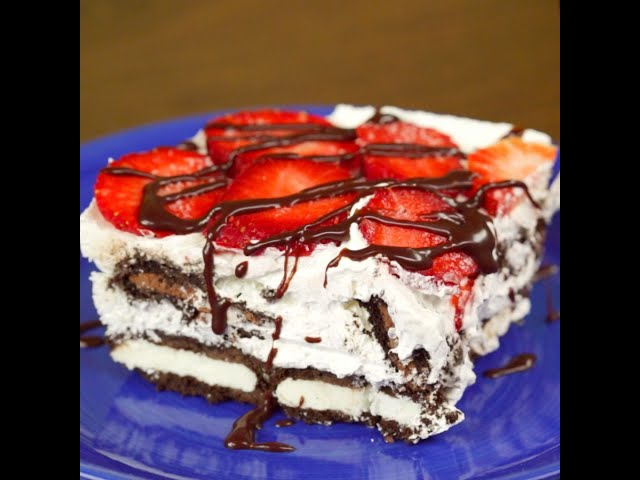 Oreo and Strawberry Cake