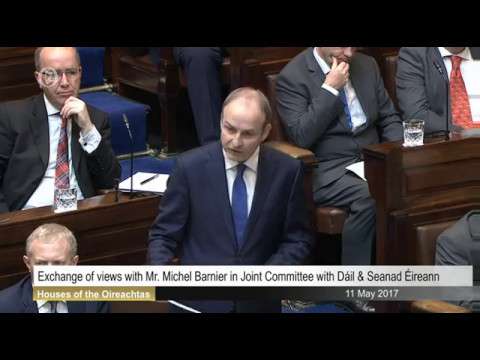 Micheál Martin addresses Dáil & Seanad in wake of speech by Michel Barnier