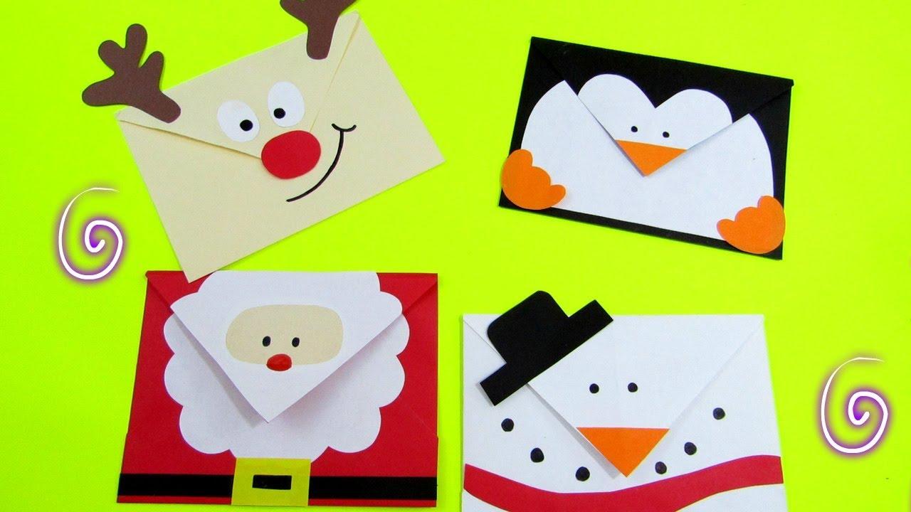 Sobres navide os youtube - Como hacer tarjetas de navidad faciles ...