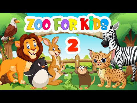 Animals At The Zoo - 2 | Learning About Zoo Animals | Vocabulary video for kids