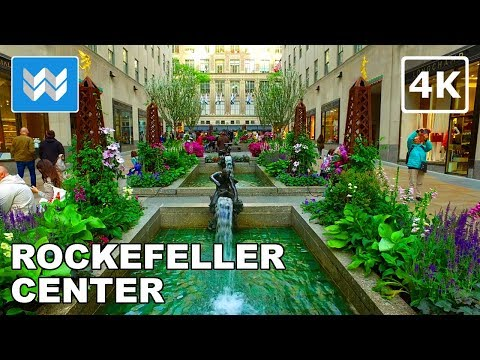Walking around Rockefeller Center & 5th Ave in Midtown Manhattan, New York City 【4K】