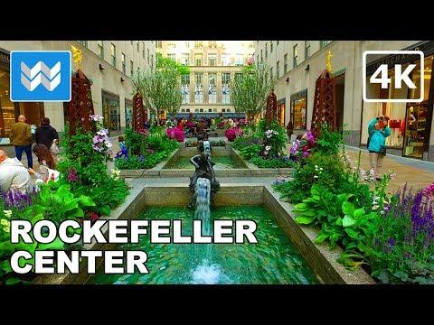Walking around Rockefeller Center and 5th Ave in Midtown Manhattan, New York City 【4K】