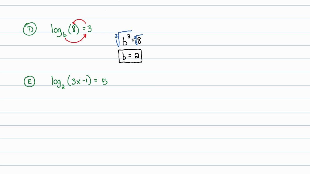 intermediate algebra - exponential and logarithmic functions