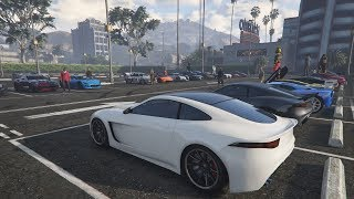 Livestream - GTA 5 - LAST OLD CASINO CAR MEET and Racing Playlist PS4