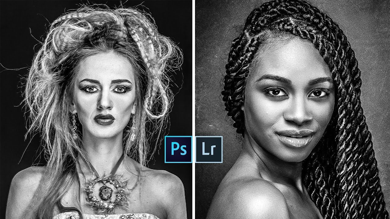 Strong contrast black white conversion in lightroom and photoshop with free presets