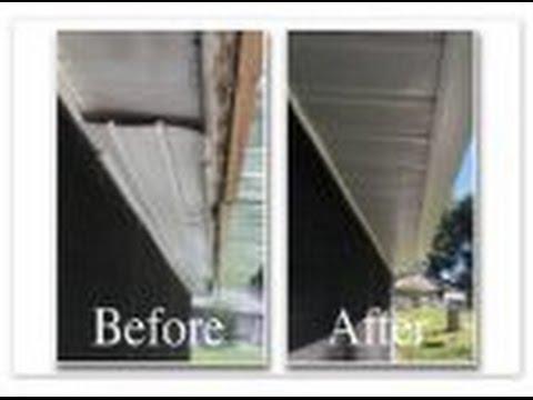 diy leaking aluminum patio roof gutter replacement