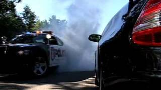 Dodge Charger Police Car Burnouts!!